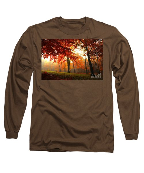 Long Sleeve T-Shirt featuring the photograph Autumn Canopy by Terri Gostola