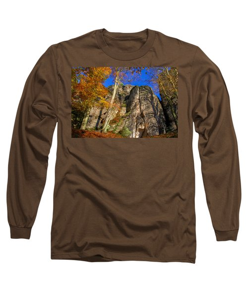 Autumn Colors In The Saxon Switzerland Long Sleeve T-Shirt