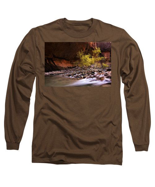 Long Sleeve T-Shirt featuring the photograph Autumn Cottonwood In The Narrows by Andrew Soundarajan