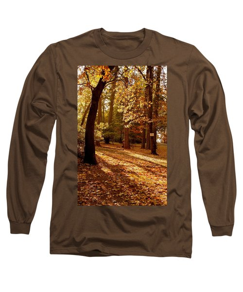 Autumn Country Lane Evening Long Sleeve T-Shirt