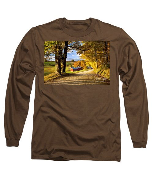 Autumn Farm In Vermont Long Sleeve T-Shirt by Brian Jannsen