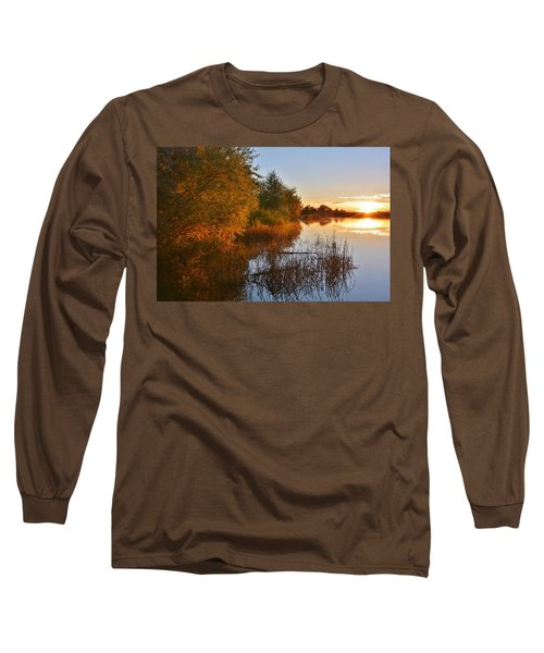 Autumn Glow At The Lake Long Sleeve T-Shirt