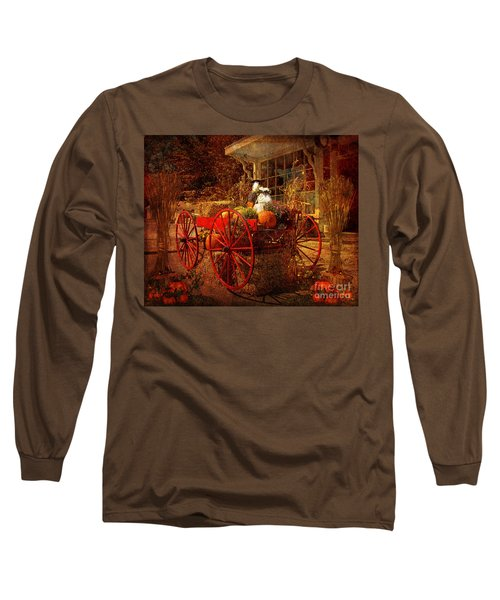 Autumn Harvest At Brewster General Long Sleeve T-Shirt by Lianne Schneider