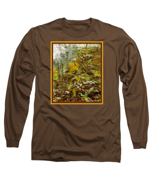 Long Sleeve T-Shirt featuring the mixed media Autumn Impressions by Ray Tapajna