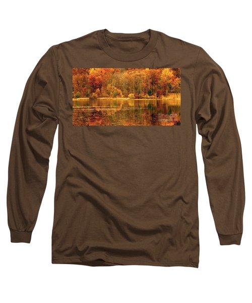 Autumn In Mirror Lake Long Sleeve T-Shirt
