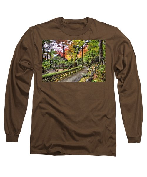 Autumn Walk Long Sleeve T-Shirt by John Swartz
