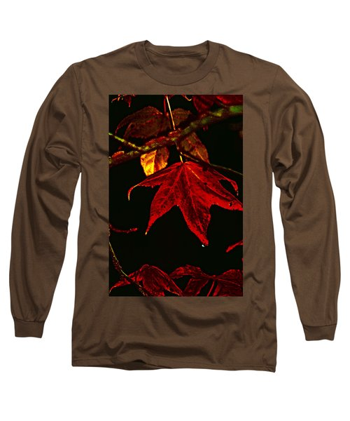 Long Sleeve T-Shirt featuring the photograph Autumn Leaves by Lesa Fine
