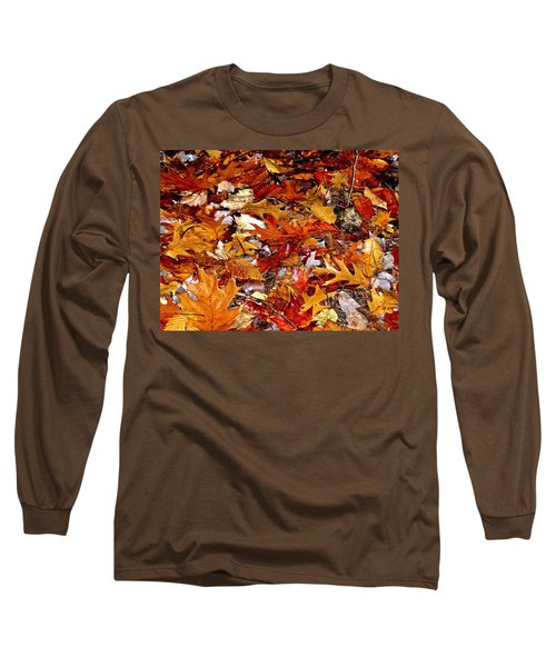 Autumn Leaves On The Ground In New Hampshire - Bright Colors Long Sleeve T-Shirt