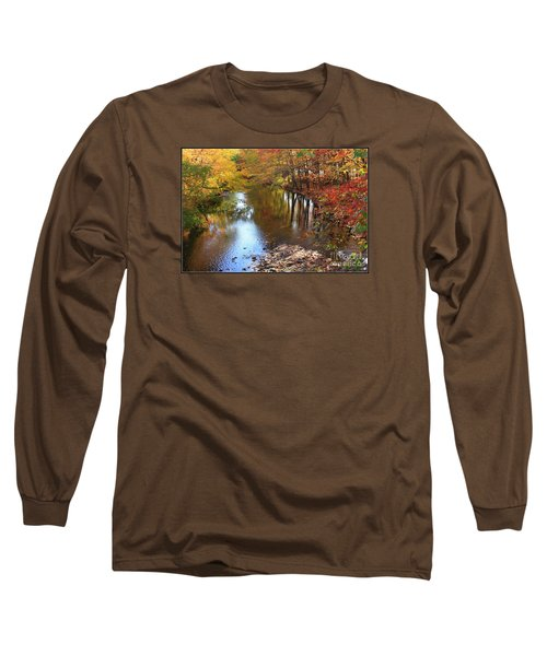 Autumn Reflection Long Sleeve T-Shirt by Dora Sofia Caputo Photographic Art and Design