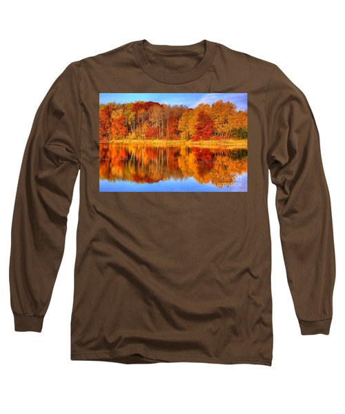 Autumn Reflections Minnesota Autumn Long Sleeve T-Shirt