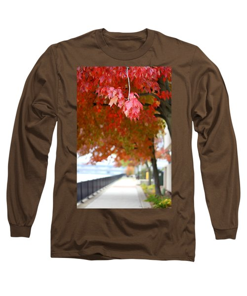 Autumn Sidewalk Long Sleeve T-Shirt