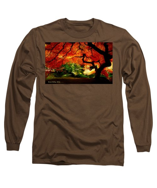 Long Sleeve T-Shirt featuring the painting Autumn Tree by Bruce Nutting
