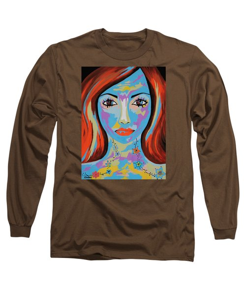 Long Sleeve T-Shirt featuring the painting Avani by Kathleen Sartoris