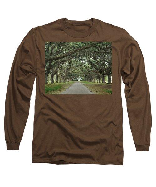 147706-avenue Of The Oaks  Long Sleeve T-Shirt