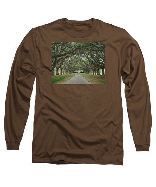 147706-avenue Of The Oaks  Long Sleeve T-Shirt
