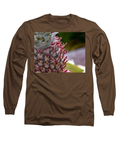 Baby White Pineapple Long Sleeve T-Shirt by Denise Bird