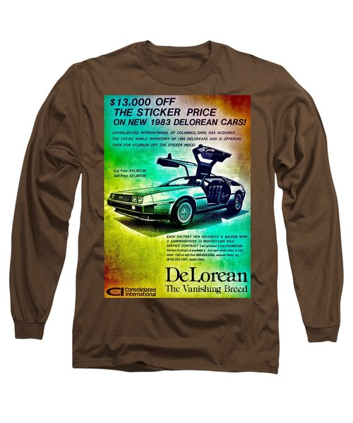 Back To The Delorean Long Sleeve T-Shirt
