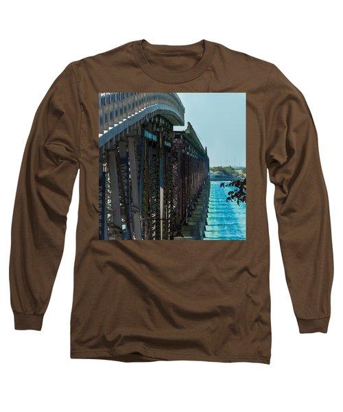 Bahia Honda Bridge Patterns Long Sleeve T-Shirt