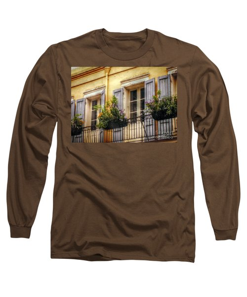 French Quarter Balcony Long Sleeve T-Shirt by Valerie Reeves