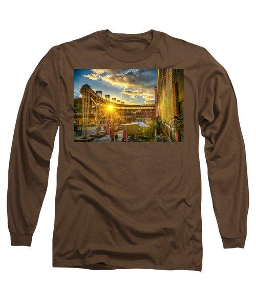 Ballpark Sunset At Target Field Long Sleeve T-Shirt