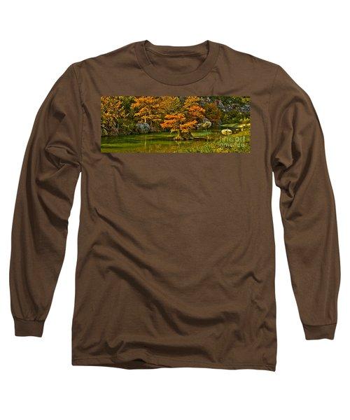 Bandera Falls On Medina River Long Sleeve T-Shirt