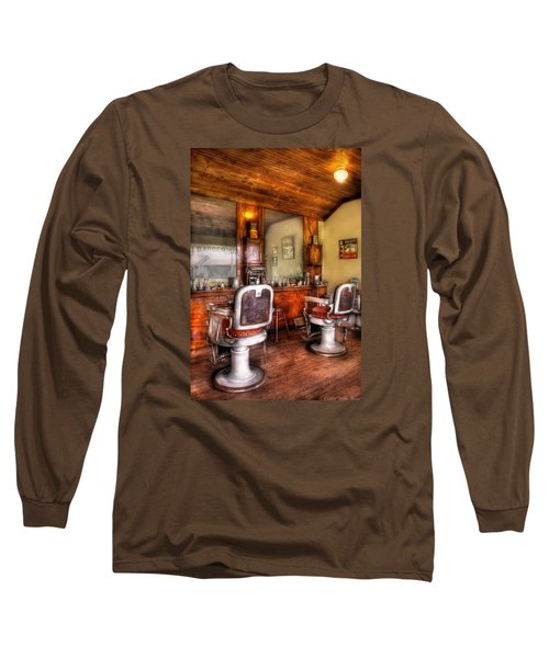 Barber - The Barber Shop II Long Sleeve T-Shirt by Mike Savad