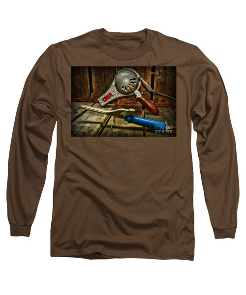 Barber - Vintage Hair Care Long Sleeve T-Shirt