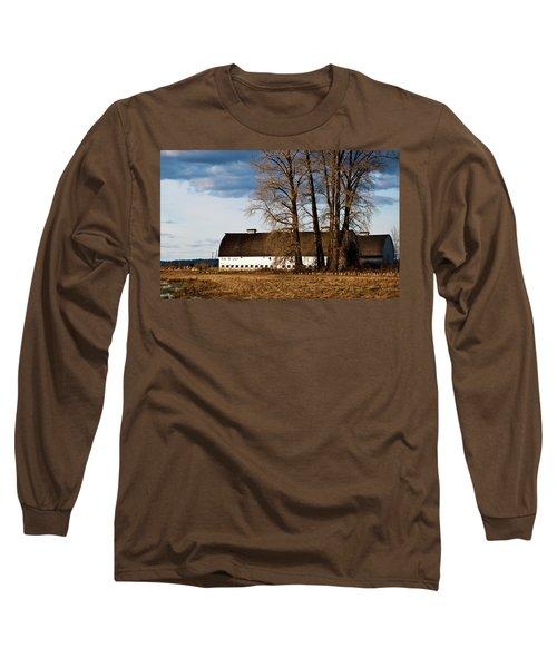 Barn And Trees Long Sleeve T-Shirt