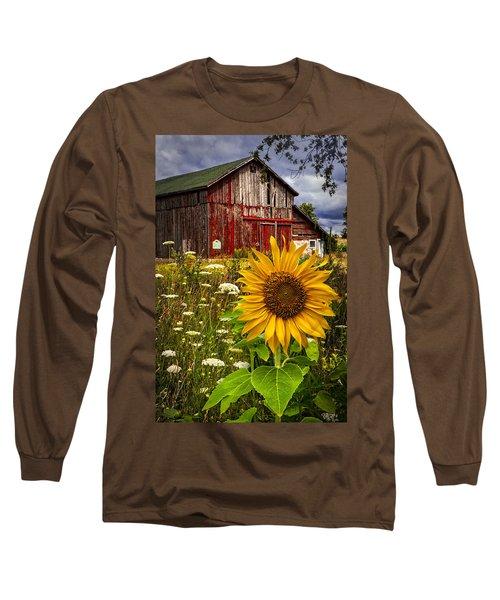 Barn Meadow Flowers Long Sleeve T-Shirt