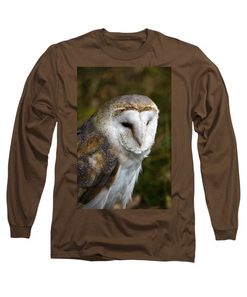 Barn Owl Long Sleeve T-Shirt by Scott Carruthers