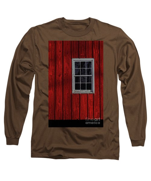 Long Sleeve T-Shirt featuring the photograph Barn Window by Debra Fedchin