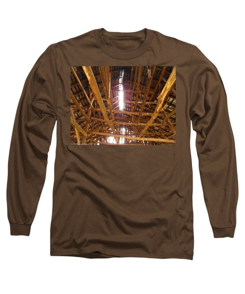 Long Sleeve T-Shirt featuring the photograph Barn With A Skylight by Nick Kirby