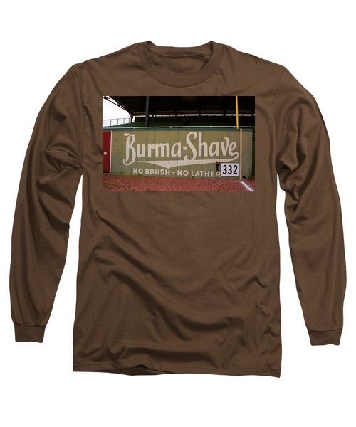 Baseball Field Burma Shave Sign Long Sleeve T-Shirt