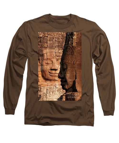 Bayon Faces 02 Long Sleeve T-Shirt