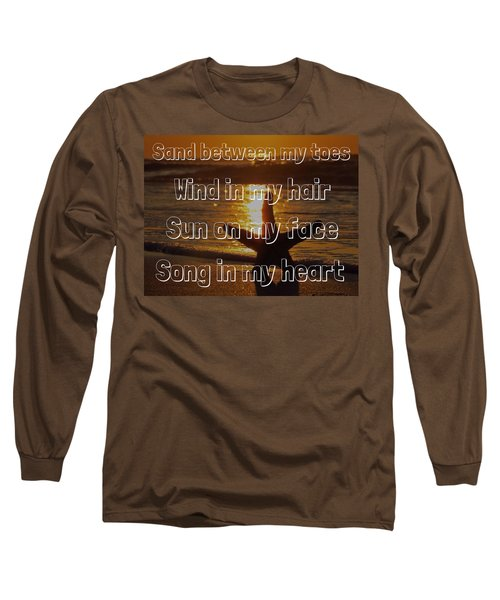 Long Sleeve T-Shirt featuring the photograph Beach Life by Nikki McInnes