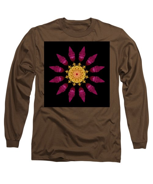 Long Sleeve T-Shirt featuring the photograph Beach Rose Iv Flower Mandala by David J Bookbinder