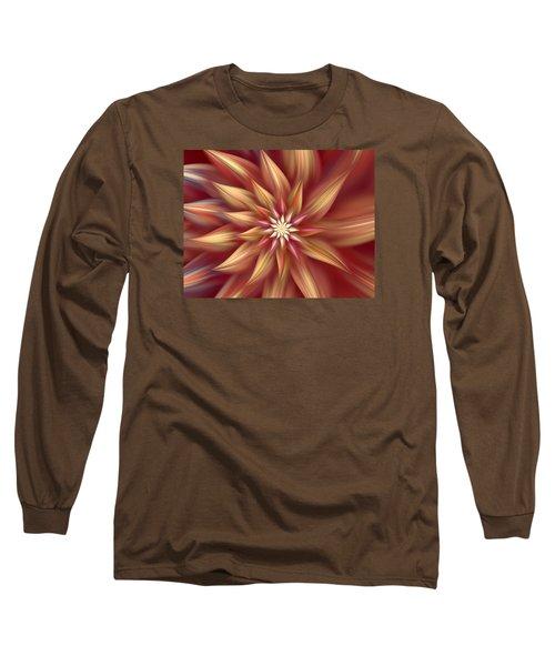 Beautiful Dahlia Abstract Long Sleeve T-Shirt