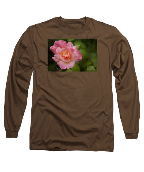 Shades Of Pink And Green Long Sleeve T-Shirt by David Millenheft