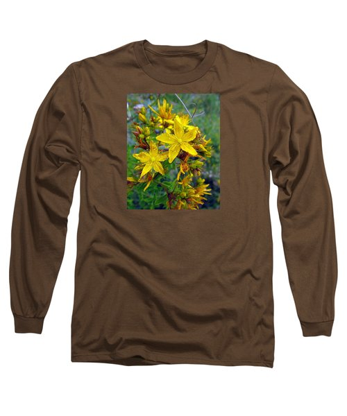 Beauty In A Weed Long Sleeve T-Shirt by I'ina Van Lawick