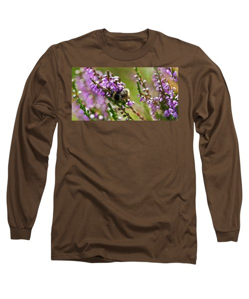 Bee On Heather Long Sleeve T-Shirt