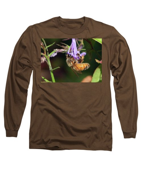Bee With Flower Long Sleeve T-Shirt