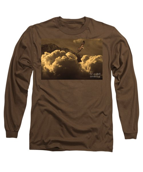 Before Memory . I Have Soared With The Hawk Long Sleeve T-Shirt