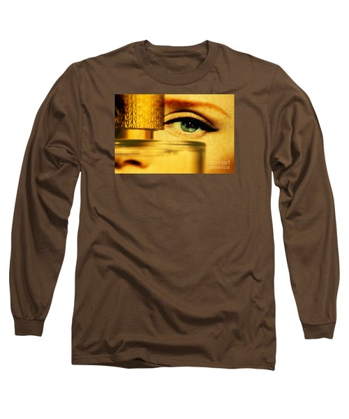 Behind The Bottle Long Sleeve T-Shirt by Michael Cinnamond
