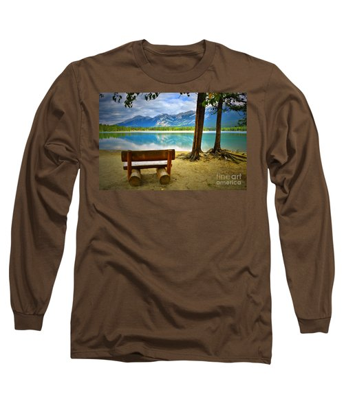 Bench View At Lake Edith Long Sleeve T-Shirt