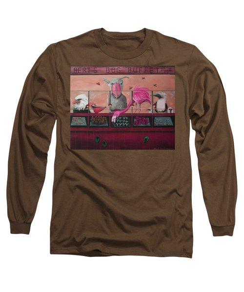 Bert's Bug Buffet Edit 2 Long Sleeve T-Shirt by Leah Saulnier The Painting Maniac