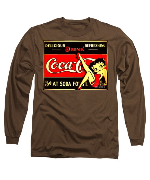 Betty Boop On Coke Long Sleeve T-Shirt