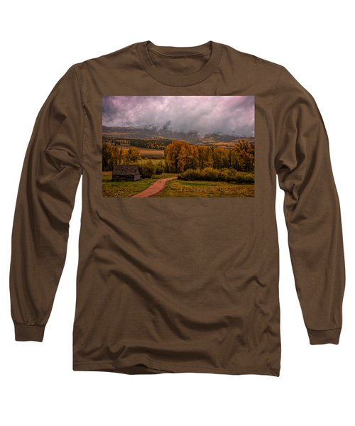 Long Sleeve T-Shirt featuring the photograph Beyond The Road by Ken Smith