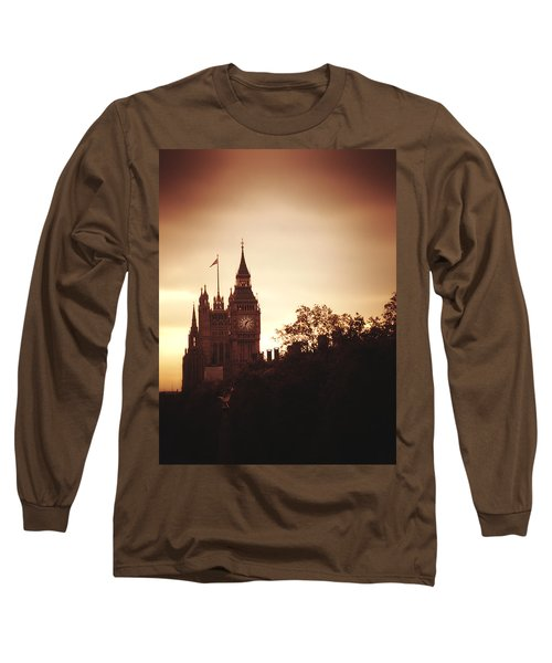 Big Ben In Sepia Long Sleeve T-Shirt