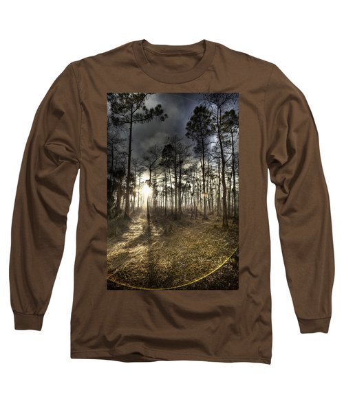 Big Cypress Fire At Sunset Long Sleeve T-Shirt by Bradley R Youngberg