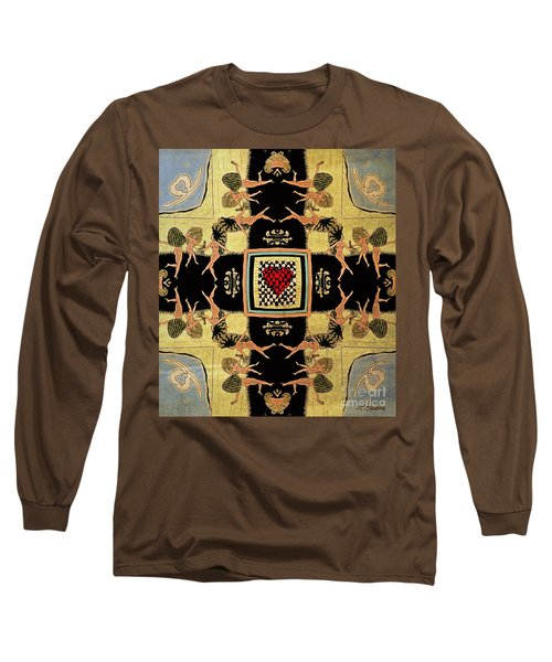 Long Sleeve T-Shirt featuring the drawing Big Sur Party X 4 by Joseph J Stevens